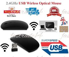 Black 2.4GHz Wireless Mouse Cordless Optical Scrol Computer PC Laptop Wit USB M1