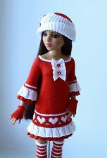 "Handmade knit outfit for Tonner Doll Ellowyne Wilde Body 16"" dress"
