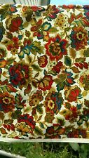 VIntage 5th Ave Design  Fabric Floral Screen Print 1960s.  49W x 6 Y MINT