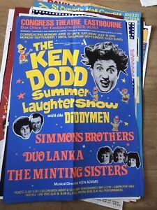Four Original Theatre Posters. 1980's 30 x 20 Ken Dodd. Les Dawson. Frank Carson