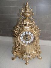 BAROCCO Orologio in ottone da tavolo da mensola per trittico funzionante stile