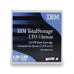 IBM 00V7590 LTO6 ULTRIUM 2.5 TB - 6.25 TB TAPES LTO-6 IBM WARRANTY 5 PACK NEW