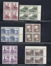 NORFOLK ISLANDS 1953 set Scott 13-18 blks/4 VF MNH