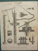 1815 Datierter Antik Aufdruck ~ Hydraulik Pumps Jekyls Schiffe Martins Diverse