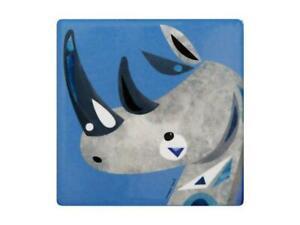 Maxwell Williams Pete Cromer Wildlife Ceramic Square Coaster 9.5cm Rhino