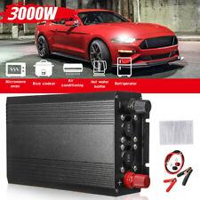 3000W Pure Sine Wave Power Inverter Dc 12V to 110V Converter Camping Car Caravan