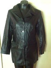 Vera pelle Alta Moda Firenza Italy Black  Jacket womens size Medium/Large