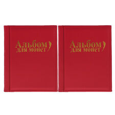 b3624a04d5 2 album portamonete da 10 pagine per 250 unità di monete collezione di