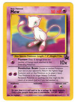 Mew Rare Non-holo Pokemon Card WotC Black Star Promo #8 Pack Fresh NM/M
