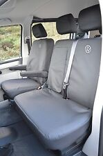 VW Transporter T5 EXTRA Heavy Duty Van Seat Covers Genuine Fit Black & Clipboard