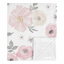 Sweet Jojo Shabby Chic Watercolor Floral Baby Receiving Security Swaddle Blanket