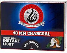 40 MM Starbuzz Coconut Shell Premium Quality Quick Light Charcoal Coals 100 Pcs
