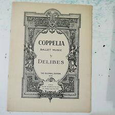 ASSOLO di pianoforte DELIBES Coppelia Balletto Musica, ARR Ernest Reeves, 28 pagine