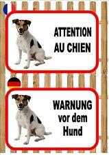 Jack Russell Beware of the Dog Sign ATTENTION AU CHIEN WARNUNG VOR DEM HUND