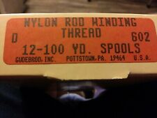 Gudebrod Rod Thread Beige #602 Size D lot pack of 12 100 yd spools