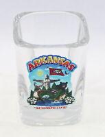 ARKANSAS STATE MONTAGE SQUARE SHOT GLASS SHOTGLASS
