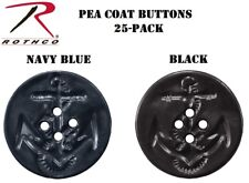 Navy Blue Or Black Bag of 25 Military Pea Coat Buttons Rothco 206