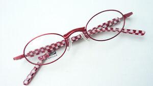 Knallrote Brille oval klein fetzig Unisex red Fassung flippig Designbügel Gr. M