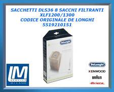 SACCHETTI DLS36 8 SACCHI FILTRANTI XLF1200/1300 5519210151 DE LONGHI ORIGINALE