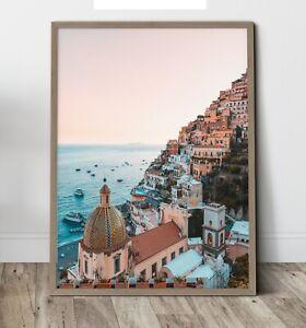 Photo art - Positano Sunset  ,Wall Art Print, Canvas A4,A3,A2,A1,A0, On trend