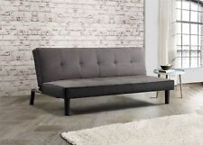 Birlea Aurora Sofa Bed 3 Seater Settee Grey Velvet Fabric Scandinavian Retro
