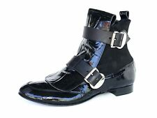 Vivienne Westwood Black Patent Leather Pirate Boots Fur Size 39.5/US 9.5