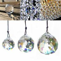 50mm Crystal Ball Clear Feng Shui Hanging Lamp Sphere Prism Rainbow Sun Catcher