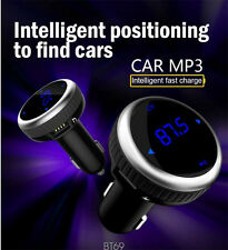 Bluetooth Wireless Fm Transmitter Hand Free Car Charger Mp3 Player for iPhone Us