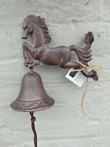 Cast Iron Wall Horse Bell Hanging Wall Bell Gate Jumping Horse