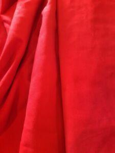 Stoffmuster 8 x 12 cm für Meterware Duvetine, samtartiges Baumwollgewebe, rot