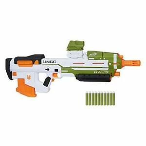 NERF Halo MA40 Motorized Blaster 10-Official Elite Darts Attachable Rail Riser