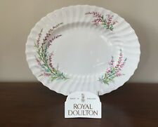 """Royal Doulton BELL HEATHER SCALLOPED 14"""" Oval Serving Platter"""