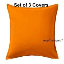 NEW Set of 3 Orange Cushion Covers Orange IKEA Pillow Covers 20x20""