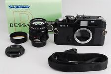 【Exc+++++】 Voigtlander BESSA R black w/ color heliar 75mm F/2.5 from japan #199