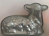 Vintage Aluminum Two Piece Lamb/Sheep Shaped Mold Cake Pan