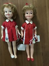 Pair Of 1963 Penny Dolls By Deluxe Reading Co.