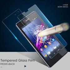 Front + Back Tempered Glass Screen Protector Film 4 Sony Xperia Z1 Z2 Z3 Z4 Z5