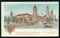ST LOUIS MO 1904 FAIR PALACE OF MACHINERY ADV POSTCARD REGAL SHOES