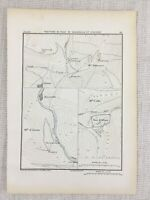 1881 Antico Militare Mappa Di Altare Italia Fortress Bellarasco Zuccarello