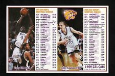1999-00 Kansas State Wildcats Basketball Magnet Schedule