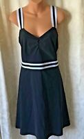 Tristan Black & White Sport Chic Fabric Dress SZ XL