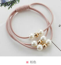 NEW 2pcs pearl rubber band hair ring for Charm bracelet hair accessories A1