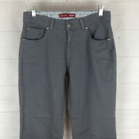 IZOD womens size 4 stretch solid gray mid rise very soft bootcut jeans in EUC