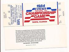 1984 USFL Championship Game Ticket  Tampa, Florida