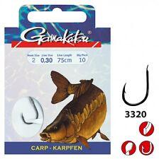 Gamakatsu 3320F 3320 Carp Schwarz Gr. 6 75cm 140311006026 Karpfenhaken TOP/NEU