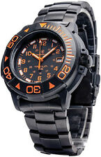 Smith & Wesson SWW900OR Tritium Dive Watch Black Metel and Rubber Band
