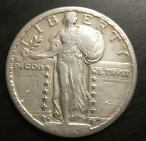 1924-D STANDING LIBERTY QUARTER Very Fine VF almost Extremely Fine XF Key Date