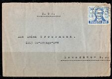 GERMANY 1945 BERLIN 30pf GOETHE TIED ON COVER TO US Sc. 9N63