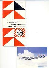 NEDERLAND -1953--KLM --DIV VARIA -- LABELS / CARDS (10 x ) --F/VF