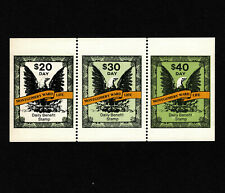 Opc Vintage Montgomery Ward Life Daily Benefit Stamps 3 Values Mnh 39314